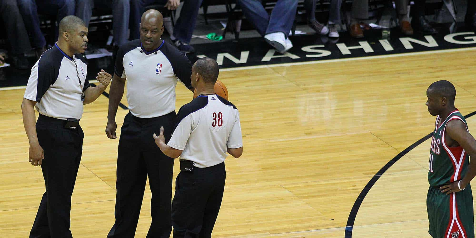 nba referees officiating a match