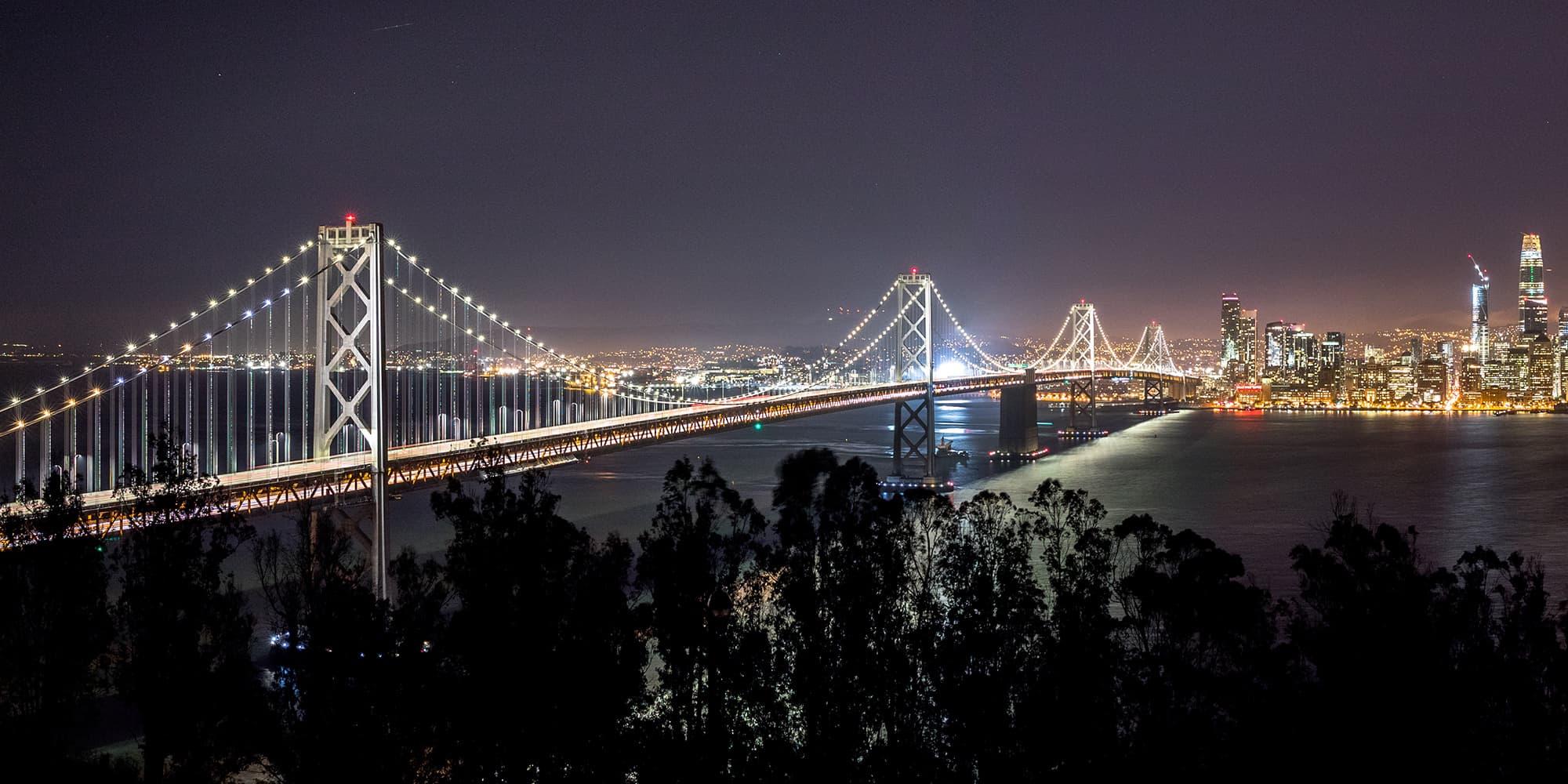 golden gate bridge san francisco california at night
