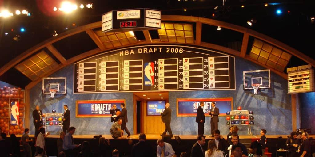 an nba draft lottery taking place